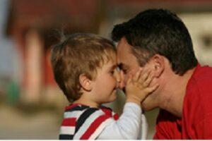 ''Nee ik wil niet jou. Ik wil pappa!!!''