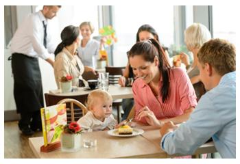 Uit eten gaan met je kind.