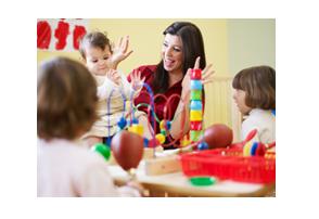 Wennen op het kinderdagverblijf