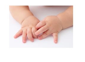 De ontwikkeling van baby handjes